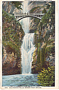 Multnomah Falls, Benson Foot Bridge Oregon (Image1)