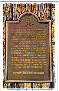 Sons of the Revolution Tablet,Fort Necessity (Image1)