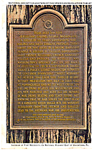Daughters Of The Revolution Tablet Fort Necessity P25778