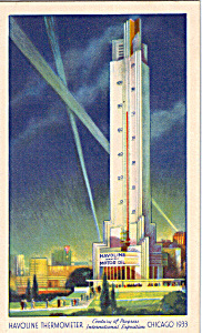 Havoline Thermometer Century Of Progress Postcard P25779