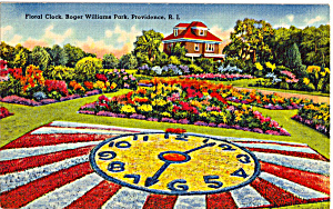 Floral Clock, Roger Williams Park, Providence (Image1)