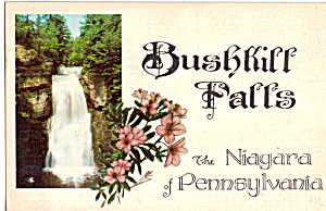 Bushkill Falls The Niagara Of Pennsylvania Postcard P25810