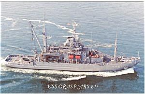 USS Grasp ARS 51 Postcard p2589 (Image1)