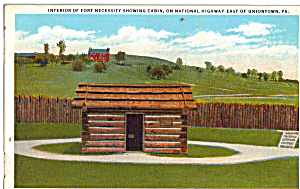 Interior of Fort Necessity Showing Cabin p25935 (Image1)