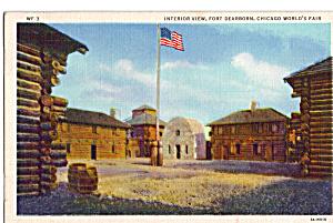 Interior View Fort Dearborn Chicago World s Fair Postcard p25936 (Image1)