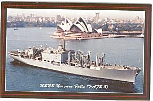 USNS Niagara Falls Postcard p2593 (Image1)