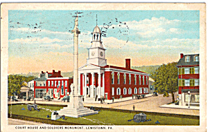 Court House and Soldiers Monument,Lewistown (Image1)