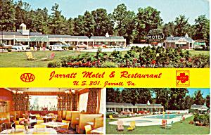 Jarrat Motel and Restaurant Jarratt  Virginia p25966 (Image1)