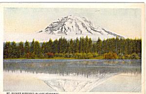 Mt Rainier Mirrored in Lake Spanaway WA p25977 (Image1)