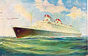 SS Conte Di Savoia 50 000 Tons Italian Line p26006 (Image1)
