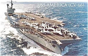 USS America CV 66 Carrier Postcard p2603 (Image1)