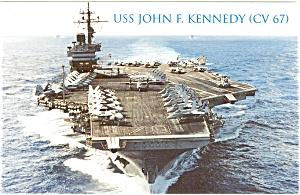 USS John F Kennedy CV 67 Carrier Postcard p2606 (Image1)