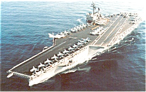 USS Kitty Hawk CV 63 Carrier Postcard p2607 (Image1)
