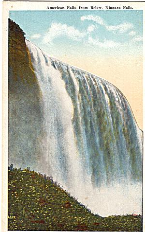 American Falls from Below Niagara Falls Postcard p26111 (Image1)
