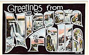 Big Letter Postcard Greetings from Niagara Falls p26119 (Image1)