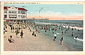 North End Bathing Scene, Ocean Grove New Jersey (Image1)