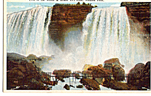 Cave of the Winds and Bridal Veil Falls Postcard p26157 (Image1)