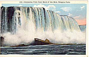 Horseshoe Falls From Maid Of The Mist Postcard P26159