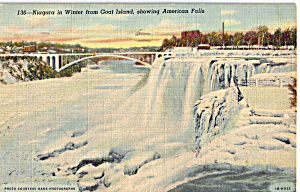Niagara in Winter from Goat Island Postcard p26171 (Image1)