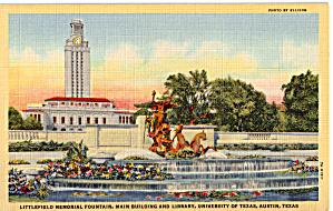 Littlefield Memorial Fountain Main Building University p26187 (Image1)