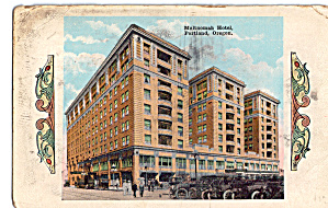 Multnomah Hotel Portland Oregon Postcard p26192 (Image1)
