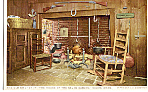 Kitchen,House of Seven Gables, Salem,Massachusetts (Image1)