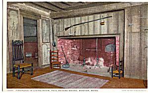 Fireplace Paul Revere House Boston Massachusetts p26222 (Image1)