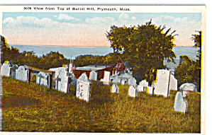 View from top of Burial Hill, Plymouth,Massachusetts (Image1)