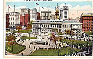 City Hall and Park  New York City NY p26254 (Image1)
