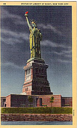 Statue Of Liberty at Night New York Harbor p26273 (Image1)