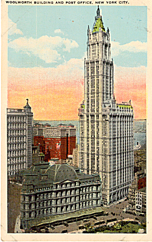 Woolworth Building and Post Office New York City p26276 (Image1)