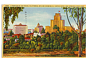 Skyline Showing El Cortez Hotel and Speckels Building (Image1)