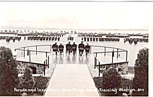Parade And Inspection,san Diego Naval Training Station P26327