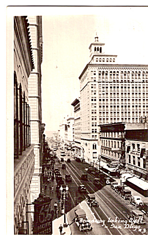 Broadway Looking West, San Diego, California (Image1)