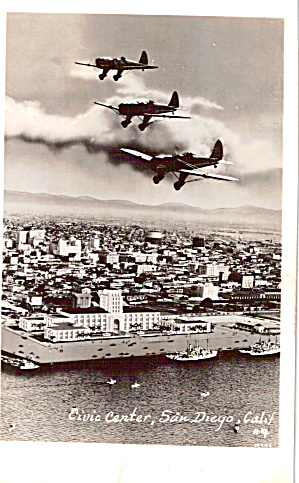 Ryan  Training Planes in flight over San Diego p26336 (Image1)