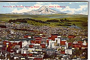 Panorama of Portland Oregon and Mt Hood p26370 (Image1)