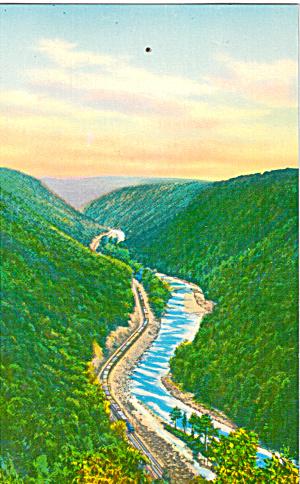 Leonard Harrison State Park PA Postcard p26383 (Image1)