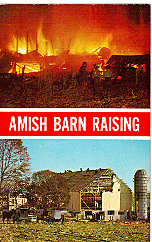 Amish Barn Raising Pennsylvania Dutch Country p26404 (Image1)