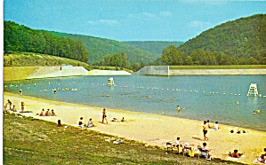 Beach at Lyman Run Dam, Galeton,Pennslyvania (Image1)