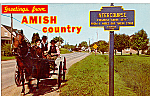Amish Courting Buugy, Intercourse, Pennsylvania P26422