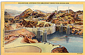 Hoover Dam Upstream Face And Intake Towers P26453