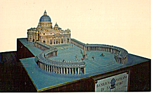 Scale Model of St Peter s Basilica Rome Italy Postcard p26529 (Image1)