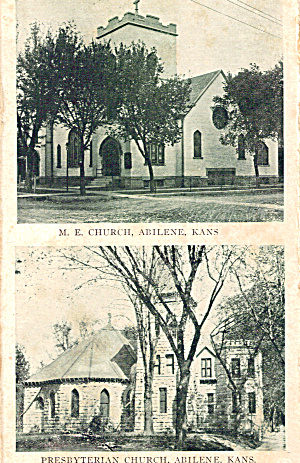 Presbyterian And M E Churches Abilene Kansas P26536