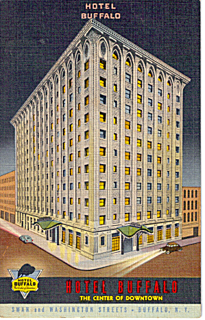 Hotel Buffalo Buffalo New York Postcard P26559