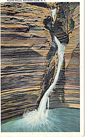 Pluto Falls Watkins Glen New York Postcard P26592