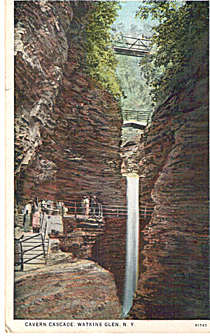 Cavern Cascade Watkins Glen New York P26596