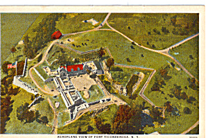 Aeroplane View of Fort Ticonderoga New York p26604 (Image1)