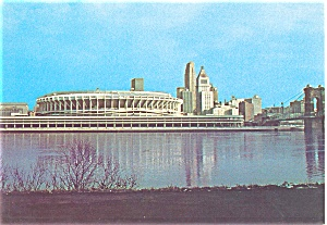 Riverfront Stadium Postcard
