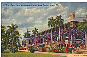 Rear View Grandstand Hialeah Race Track Miami FL p26617 (Image1)
