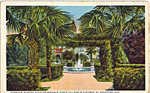 Fountain Hotel Alcazar and Ponce de Leon St Augustine FLp26650 (Image1)